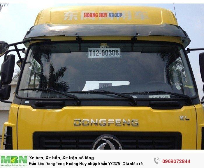 Đầu kéo DongFeng Hoàng Huy nhập khẩu YC375, Giá siêu rẻ 8