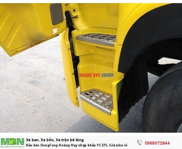 Đầu kéo DongFeng Hoàng Huy nhập khẩu YC375, Giá siêu rẻ 9