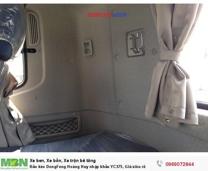 Đầu kéo DongFeng Hoàng Huy nhập khẩu YC375, Giá siêu rẻ 16