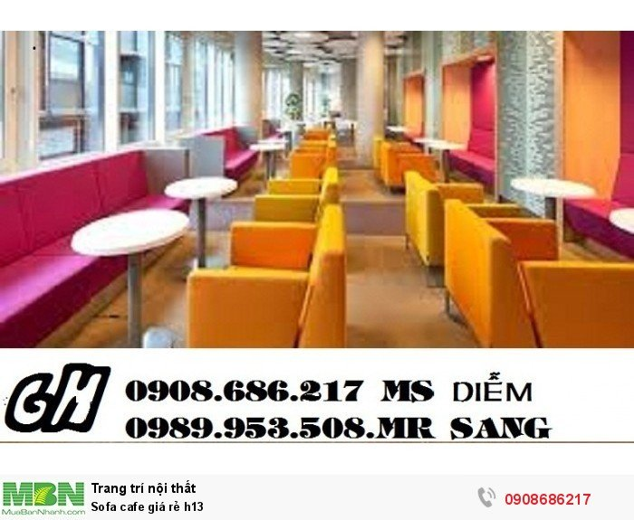 Sofa cafe giá rẻ h131
