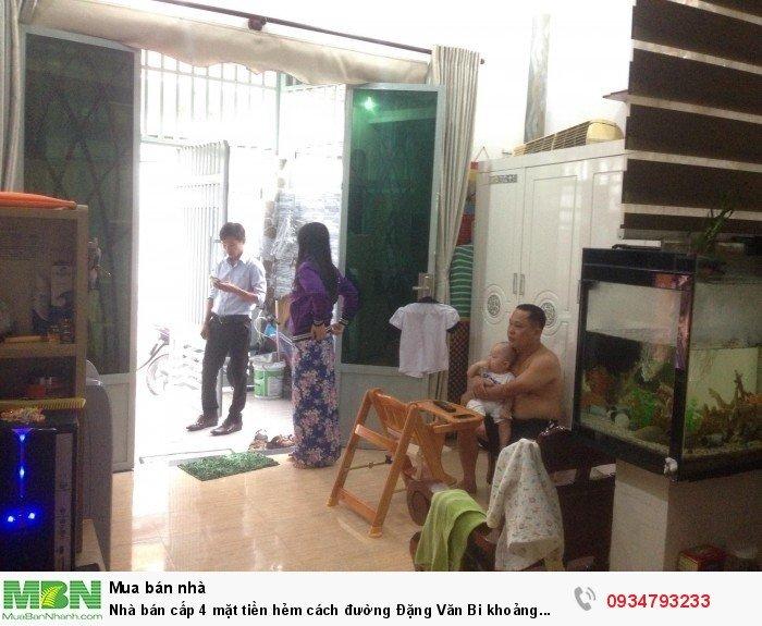 Nhà bán cấp 4 mặt tiền hẻm cách đường Đặng Văn Bi khoảng 10m,Trường Thọ , Thủ Đức.DT: 60m2.