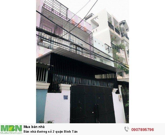 Bán nhà đường số 2 quận Bình Tân