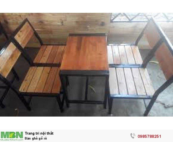 Bàn ghế gỗ rẻ0