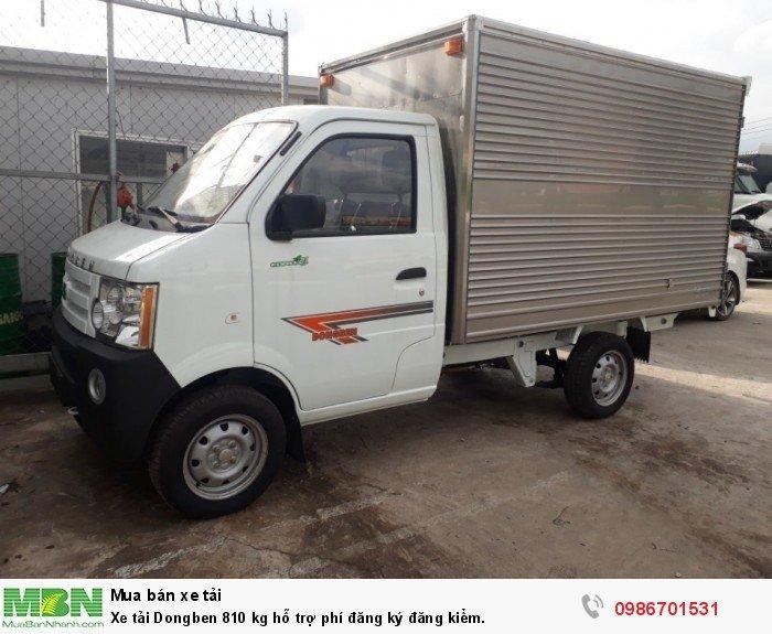 Xe tải Dongben 810 kg hỗ trợ phí đăng ký đăng kiểm.