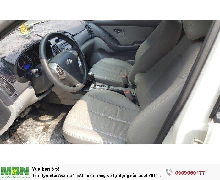Bán Hyundai Avante 1.6AT màu trắng số tự động sản xuất 2015 đi 41000km
