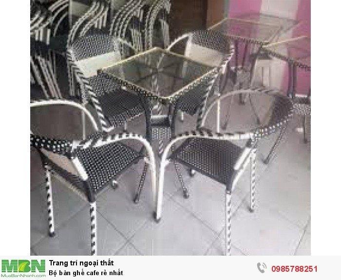 Bộ bàn ghế cafe rẻ nhất0