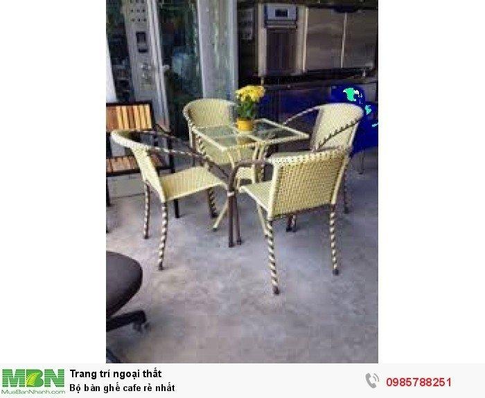 Bộ bàn ghế cafe rẻ nhất2