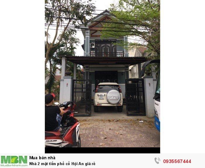 Nhà 2 mặt tiền phố cổ Hội An giá rẻ