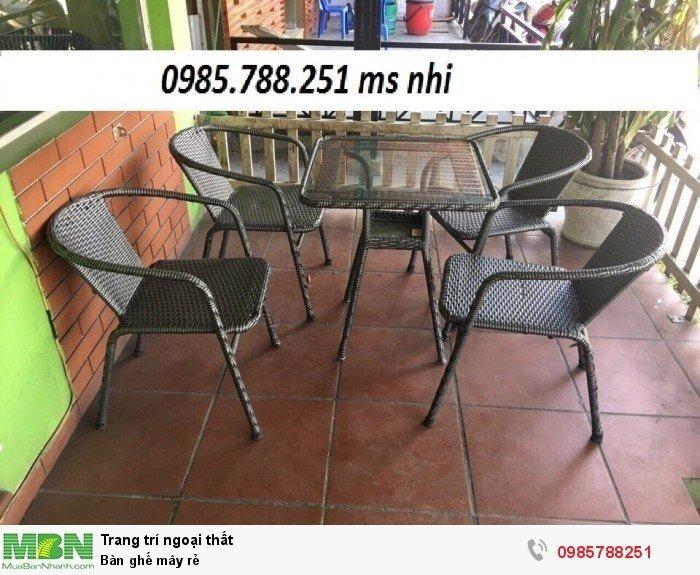 Bàn ghế mây rẻ