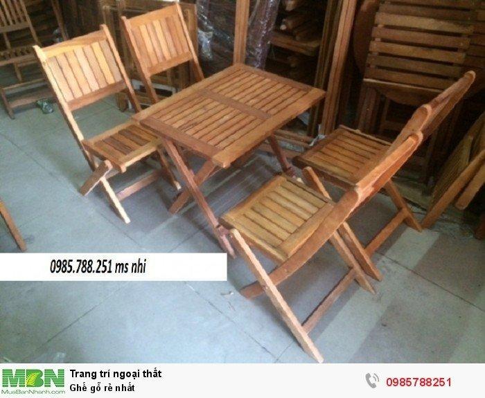 Ghế gỗ rẻ nhất