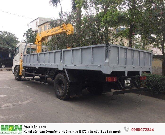 Xe tải gắn cẩu Dongfeng Hoàng Huy B170 gắn cẩu SooSan mode SCS524 6 tấn 4 đốt, Xe có sẵn giao ngay 1