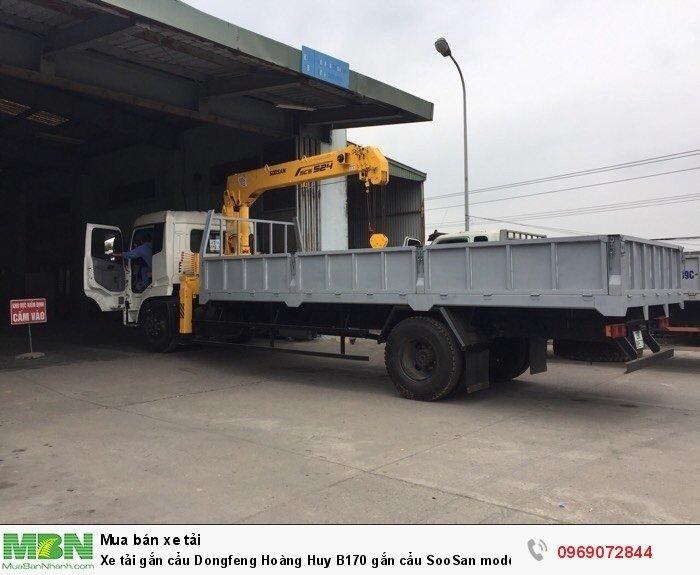 Xe tải gắn cẩu Dongfeng Hoàng Huy B170 gắn cẩu SooSan mode SCS524 6 tấn 4 đốt, Xe có sẵn giao ngay 2