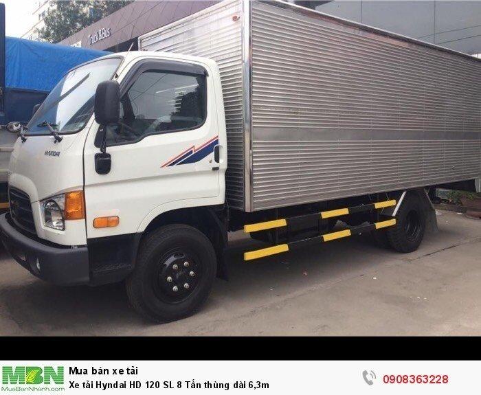 Xe tải Hyndai HD 120 SL 8 Tấn thùng dài 6,3m
