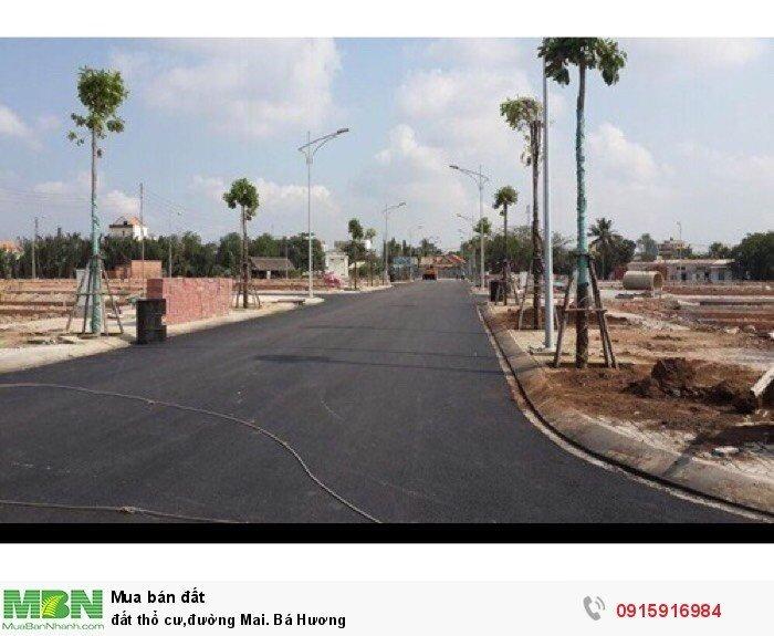 đất thổ cư,đường Mai. Bá Hương
