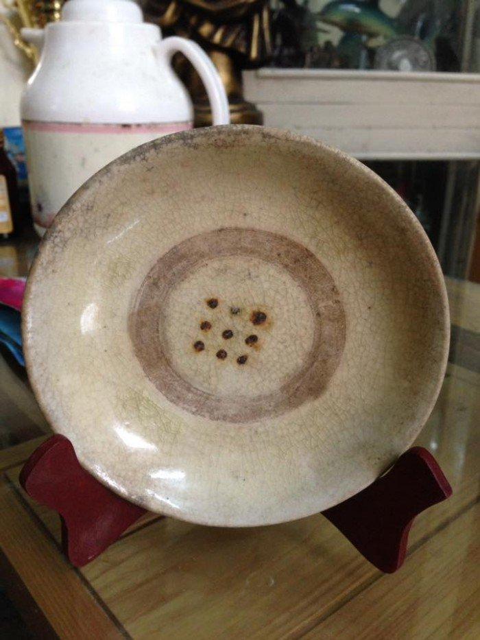 Đĩa sứ cổ Đường kính 13cm cao 2,5cm1