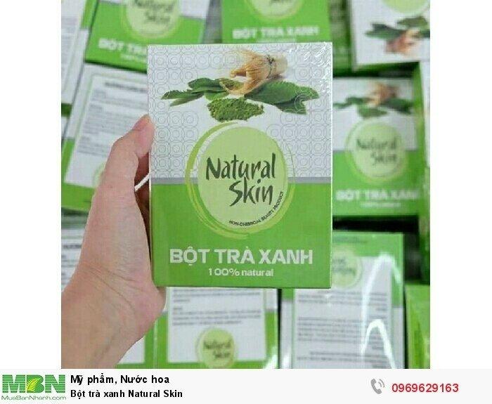 Bột trà xanh Natural Skin0