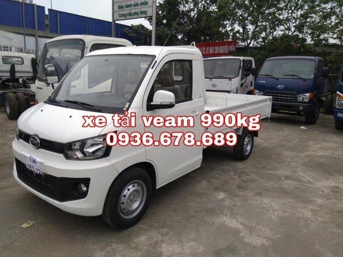 Xe tải veam vpt095 thùng lửng 990kg,xe mới 100%,giá rẻ nhất
