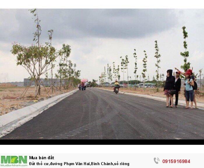 Đất thổ cư,đường Phạm Văn Hai,Bình Chánh,sổ riêng