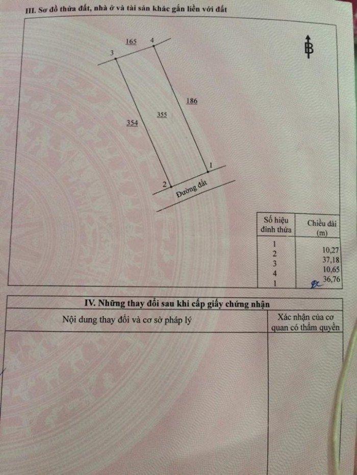 Bán lô đất Long Thọ Nhơn Trạch diện tích 387m gặp chính chủ
