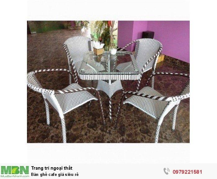 Bàn ghế cafe giá siêu rẻ
