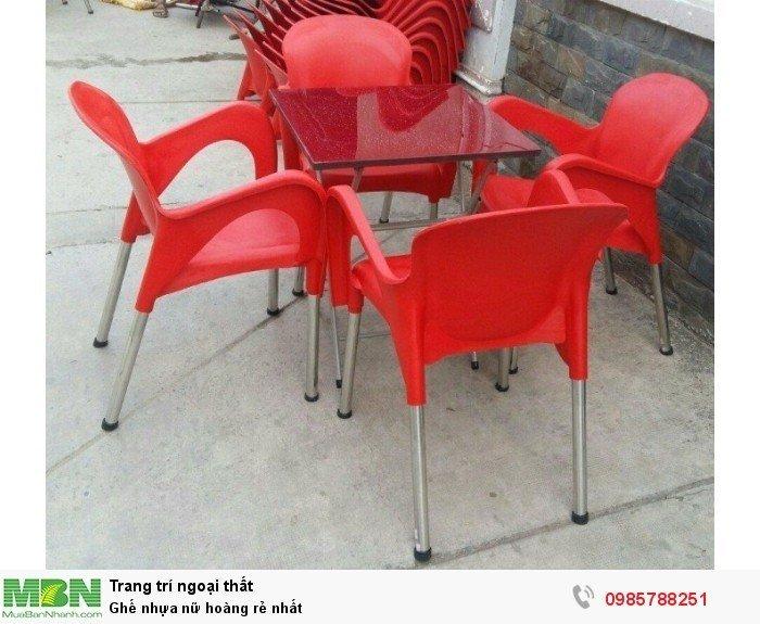 Ghế nhựa nữ hoàng rẻ nhất2