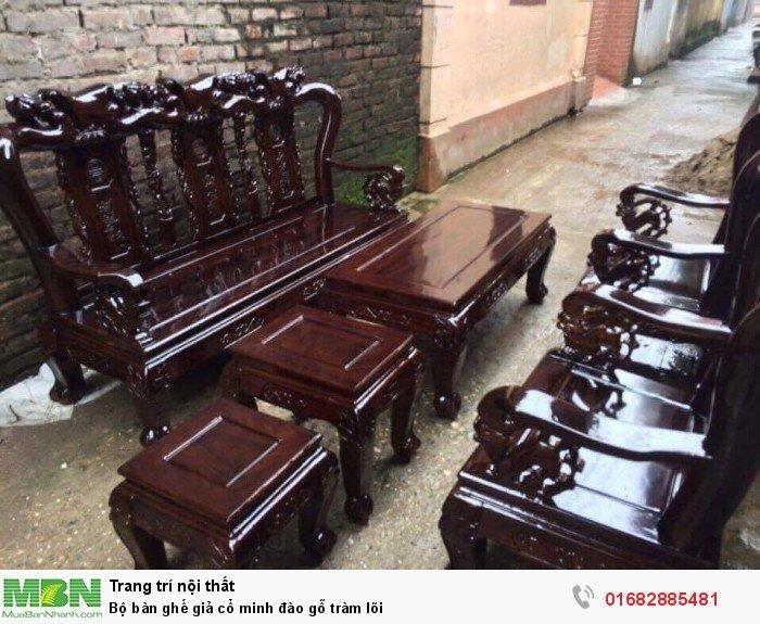 Bộ bàn ghế giả cổ minh đào gỗ tràm lõi4