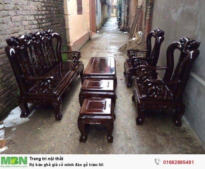 Bộ bàn ghế giả cổ minh đào gỗ tràm lõi5