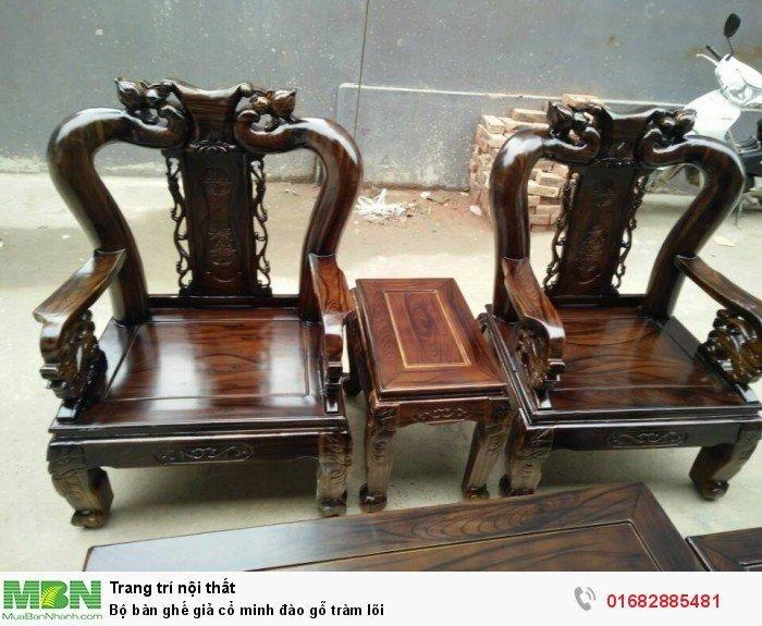 Bộ bàn ghế giả cổ minh đào gỗ tràm lõi6