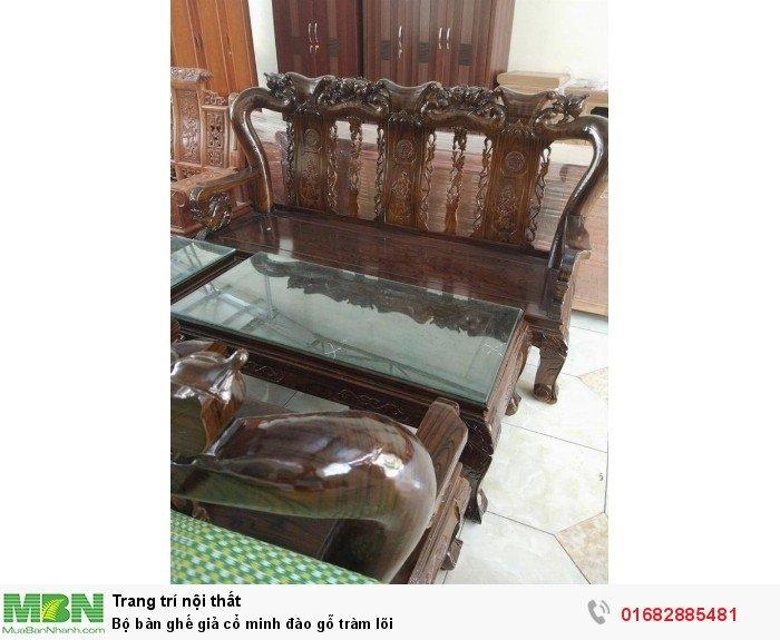 Bộ bàn ghế giả cổ minh đào gỗ tràm lõi8