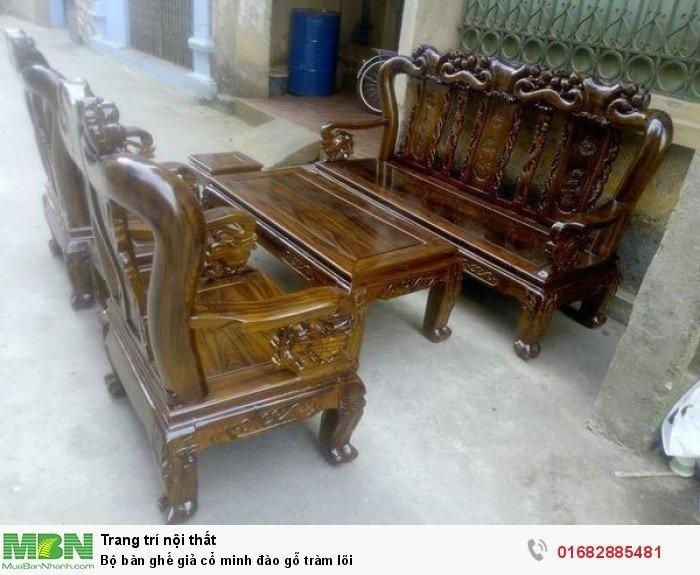 Bộ bàn ghế giả cổ minh đào gỗ tràm lõi7