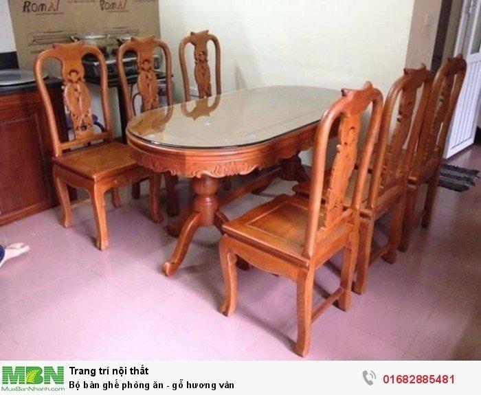 Bộ bàn ghế phòng ăn - gỗ hương vân0
