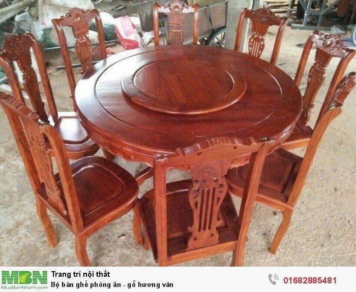 Bộ bàn ghế phòng ăn - gỗ hương vân3