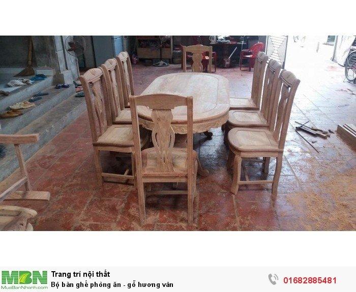 Bộ bàn ghế phòng ăn - gỗ hương vân4