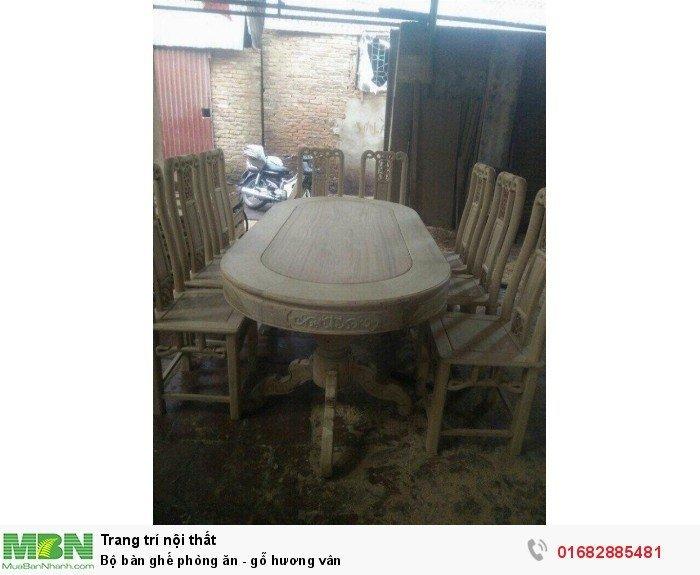 Bộ bàn ghế phòng ăn - gỗ hương vân6