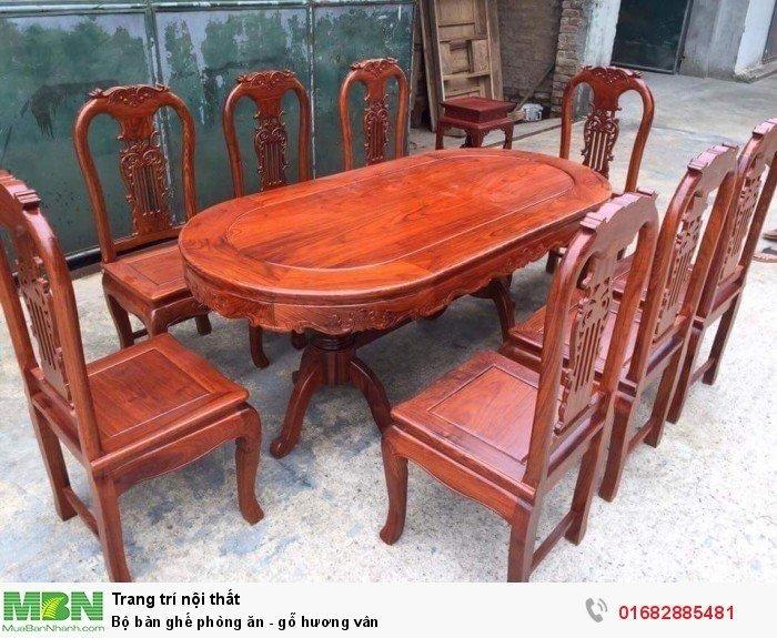 Bộ bàn ghế phòng ăn - gỗ hương vân5