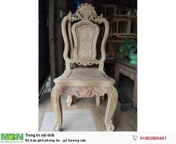 Bộ bàn ghế phòng ăn - gỗ hương vân7