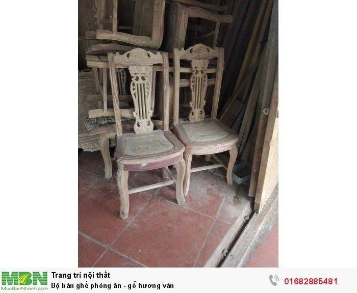 Bộ bàn ghế phòng ăn - gỗ hương vân8