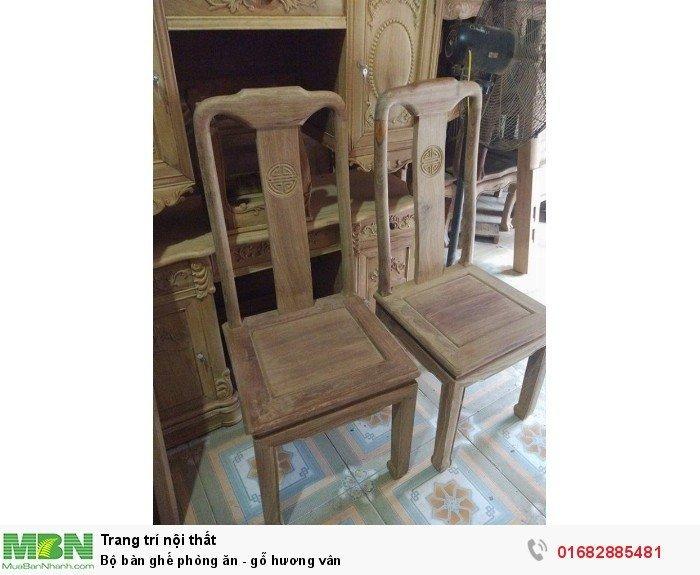 Bộ bàn ghế phòng ăn - gỗ hương vân9