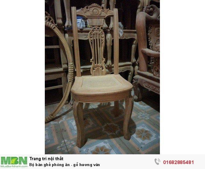 Bộ bàn ghế phòng ăn - gỗ hương vân10