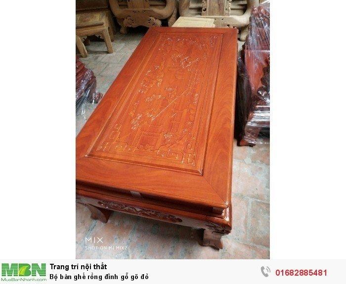 Bộ bàn ghế đồng kỵ rồng đỉnh gỗ gõ đỏ1