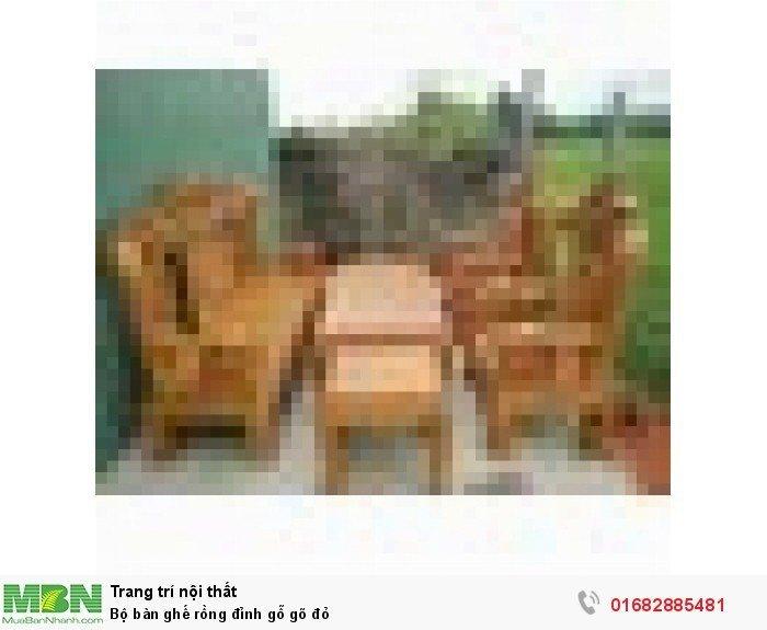 Bộ bàn ghế đồng kỵ rồng đỉnh gỗ gõ đỏ4