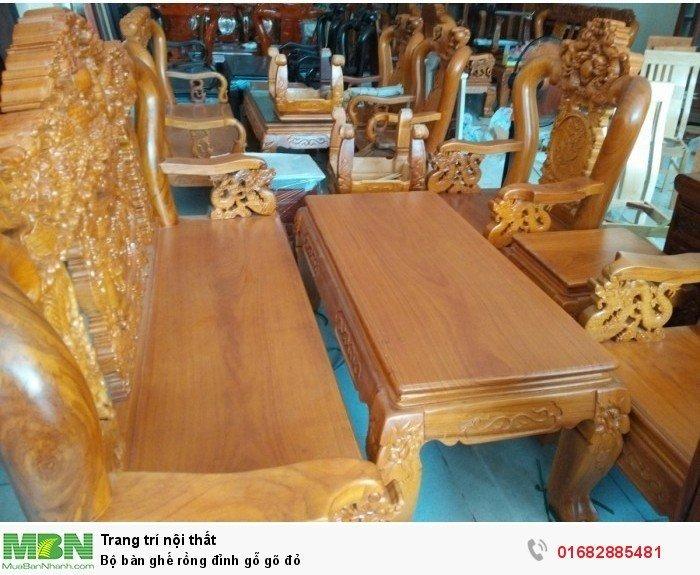 Bộ bàn ghế đồng kỵ rồng đỉnh gỗ gõ đỏ5