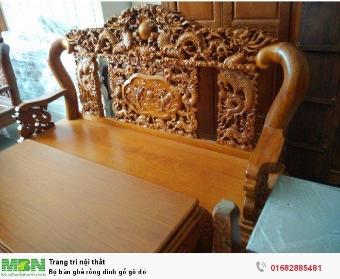 Bộ bàn ghế đồng kỵ rồng đỉnh gỗ gõ đỏ6