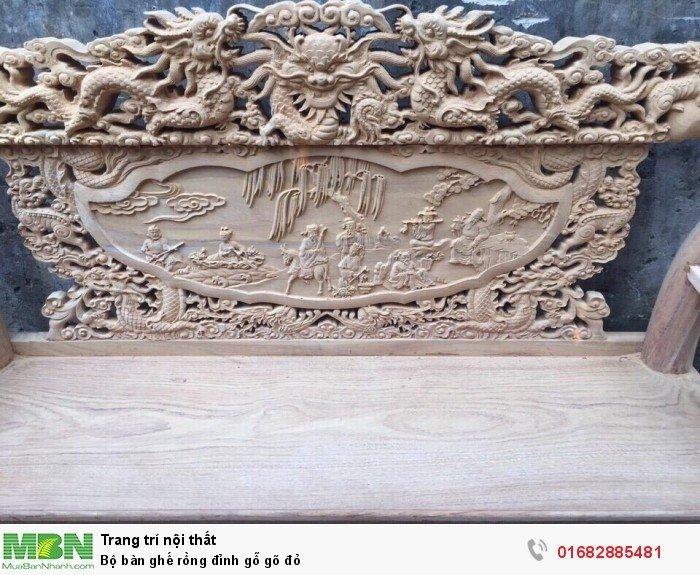 Bộ bàn ghế đồng kỵ rồng đỉnh gỗ gõ đỏ8
