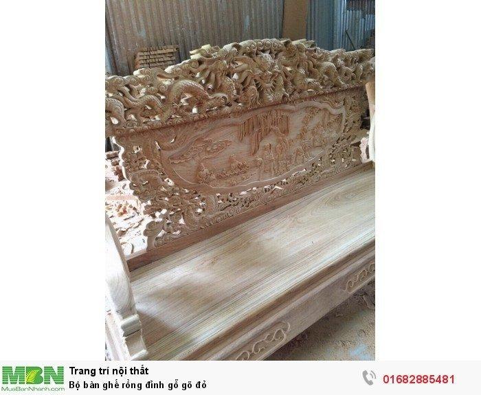 Bộ bàn ghế đồng kỵ rồng đỉnh gỗ gõ đỏ9