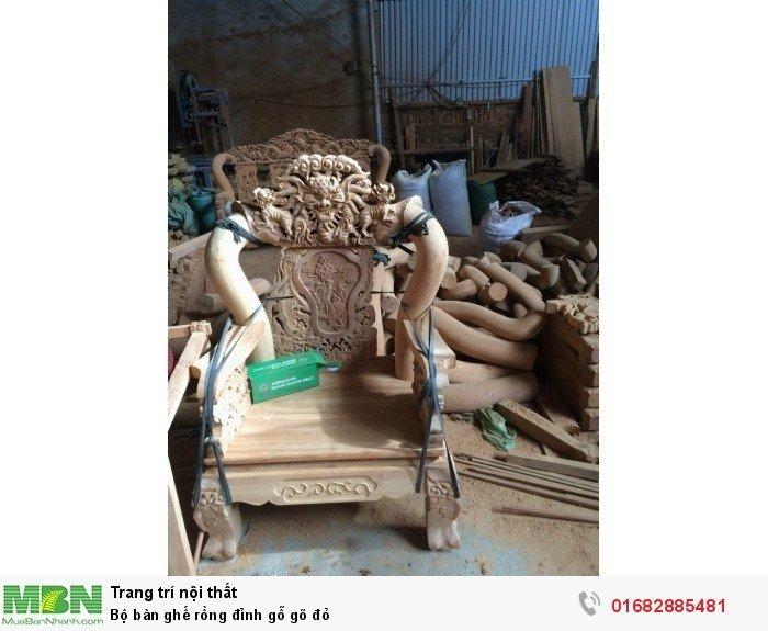 Bộ bàn ghế đồng kỵ rồng đỉnh gỗ gõ đỏ10