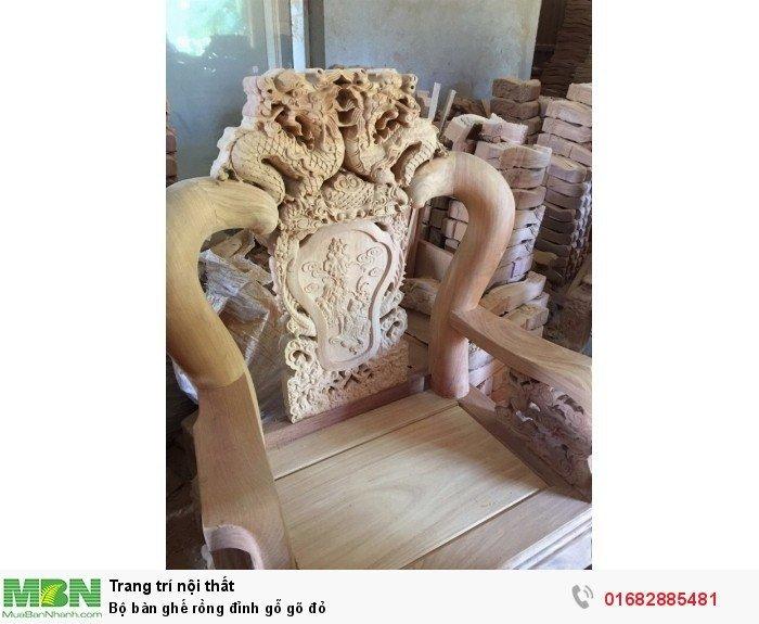 Bộ bàn ghế đồng kỵ rồng đỉnh gỗ gõ đỏ13