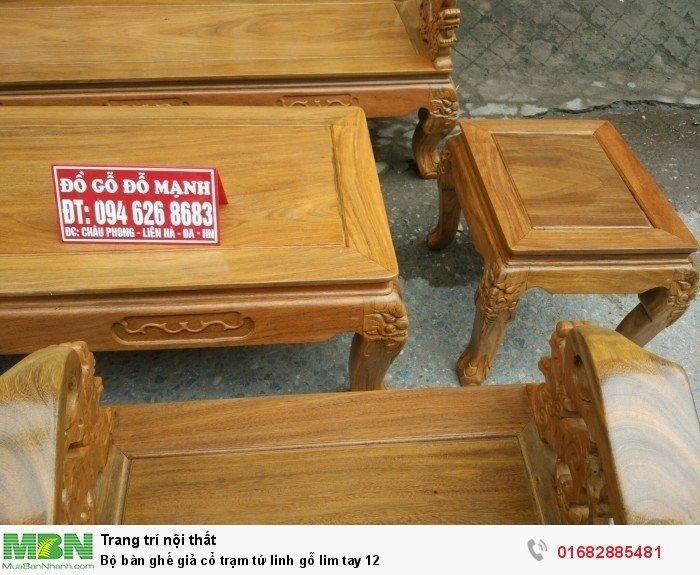 Bộ bàn ghế giả cổ trạm tứ linh gỗ lim4