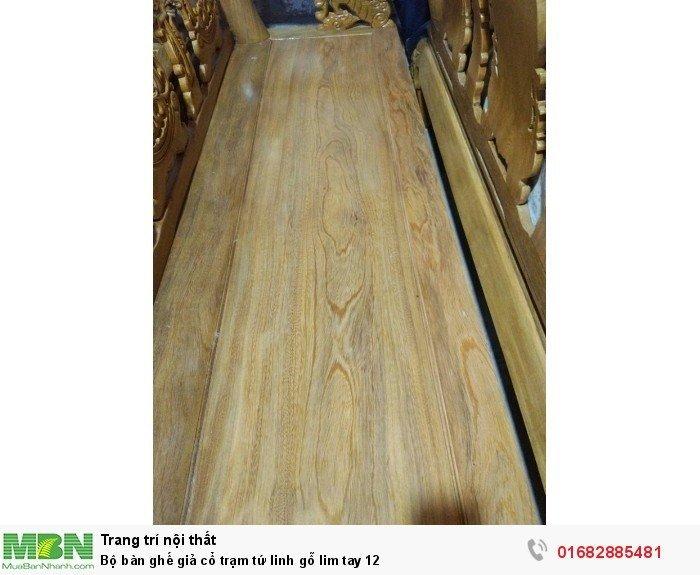 Bộ bàn ghế giả cổ trạm tứ linh gỗ lim5