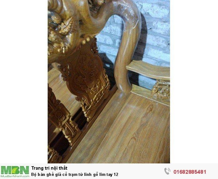 Bộ bàn ghế giả cổ trạm tứ linh gỗ lim7